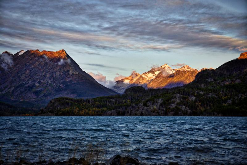 Chilko Lake surrounded by the Coast Mountains