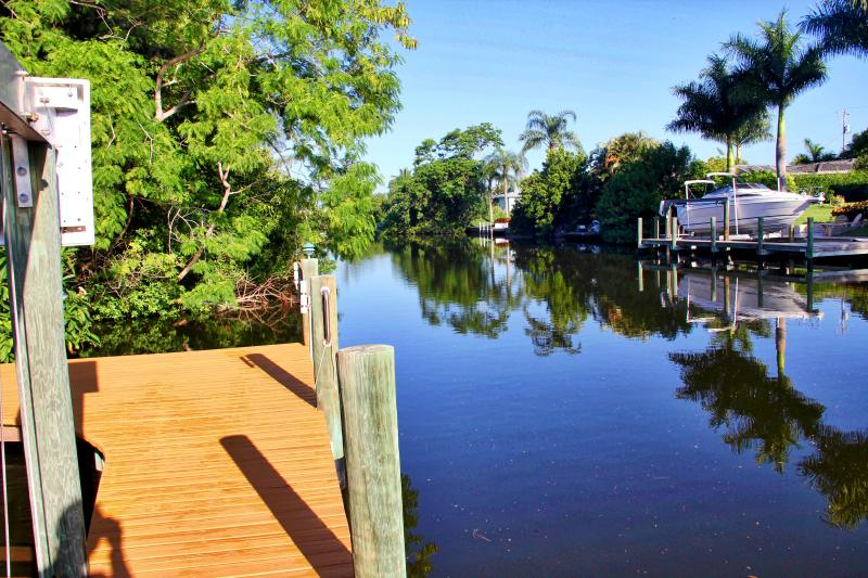 Take the canal for a short ride to the inter-coastal or drop in a fishing line.