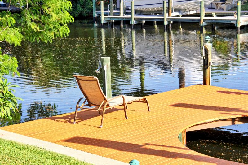 Need a sunny spot to relax?  The dock area is inviting you to grab a few rays.