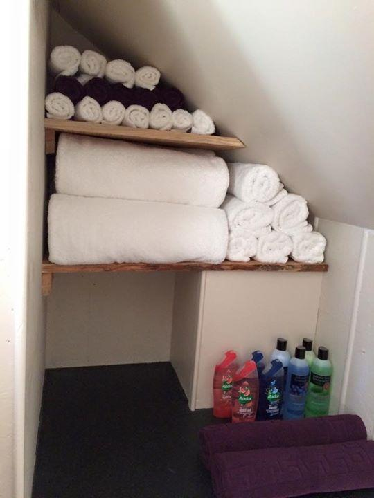 Inside The Shower Cabin. Towels Included In Your Package Price.