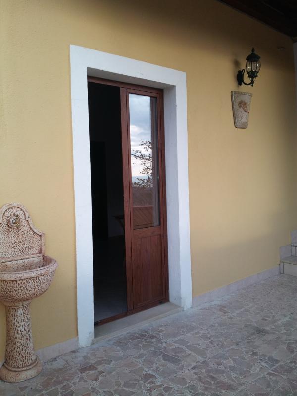 porta cucina per pranzare in verandai