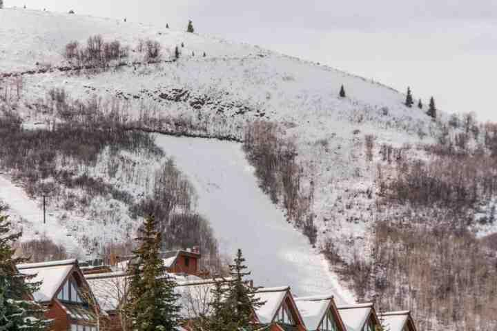 Early winter at the Park City Mountain Village area.