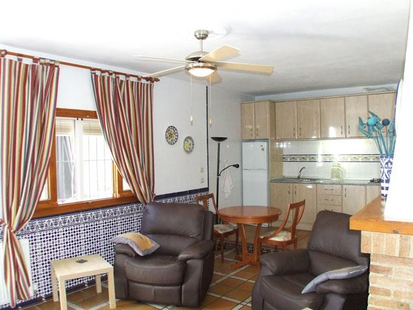 Inside the Orange grove garden apartment at Finca Arboleda