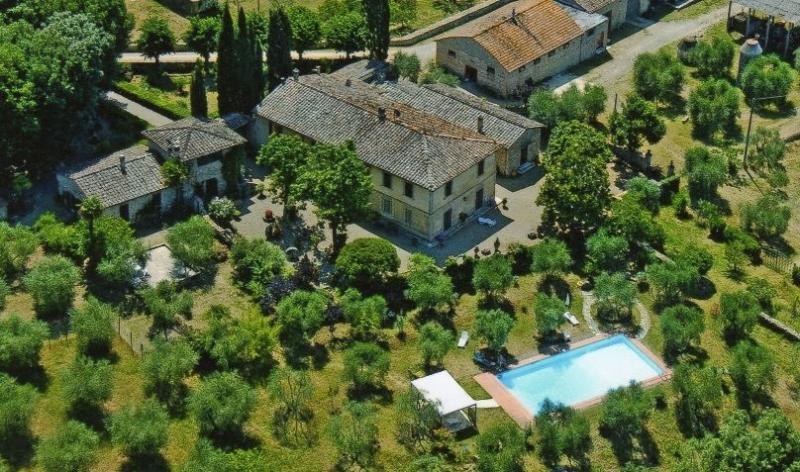 Foto aerea del complesso di Villa Bellaria.