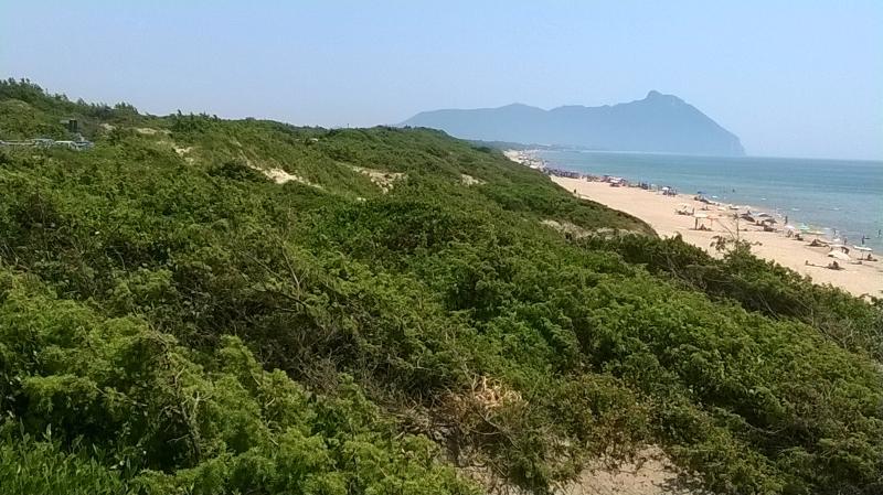 La duna di Sabaudia a 2 km dalla casa.