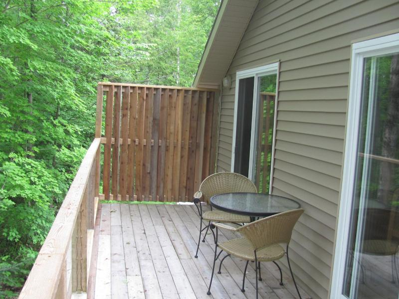 Private Deck with BBQ (propane included) with Bistro table and 2 Chairs