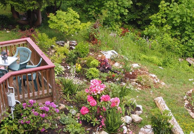 Deanna working in the Garden