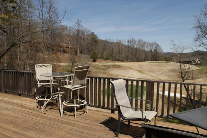 Gorgeous views of Apple Valley tee box #2 are seen from the back deck.