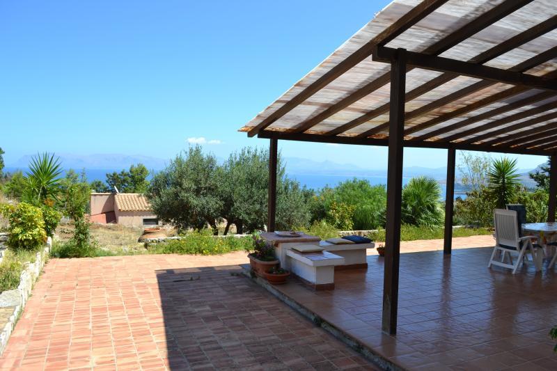 the verandah overlooking the sea