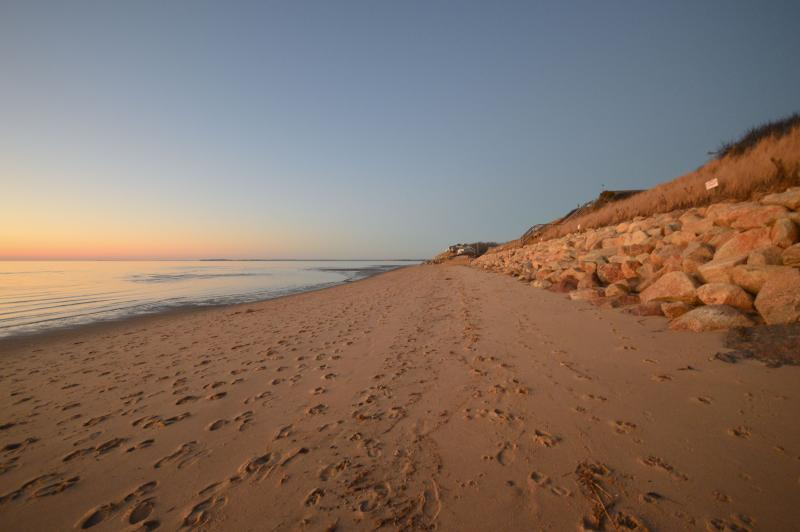 Beautiful Campground Beach sunset a 4 minute drive from this property with parking pass included