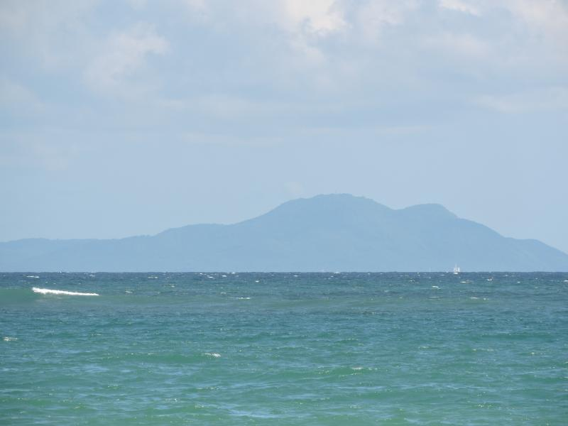 view of Vieques from beach