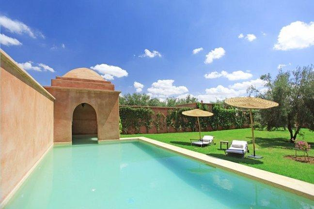Our lovely pool set in the walled garden