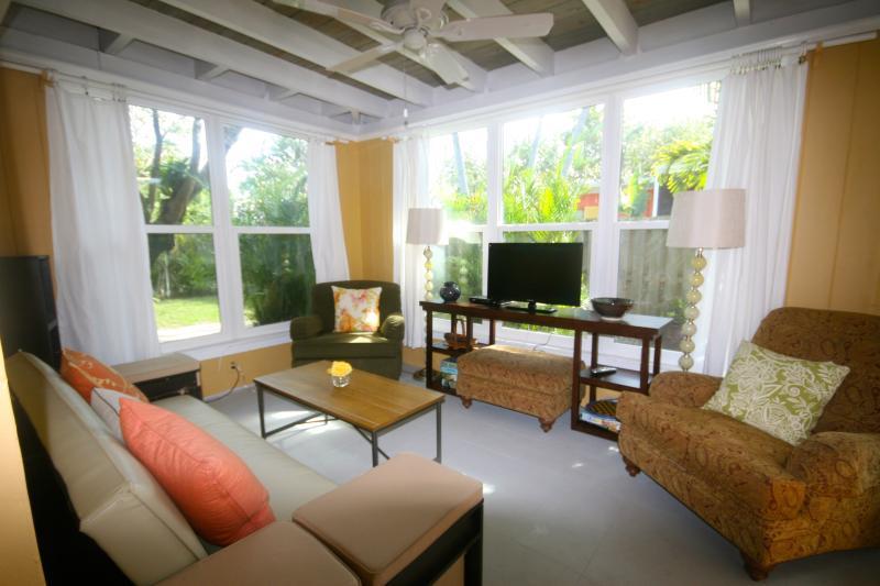 Sunroom - large windows, overlooking private yard