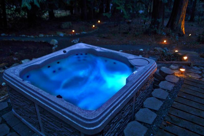 Relax in the hot tub after a long day of exploring the Island.