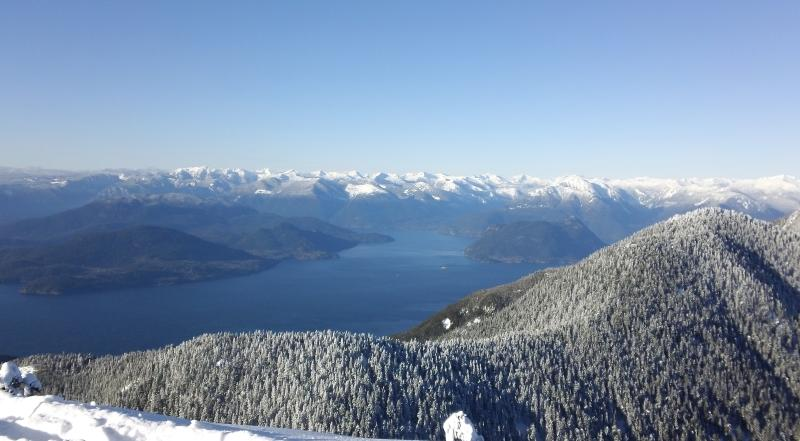 Cypress Mountain view of Howe Sound from chair lifts