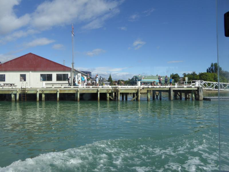 View of the wharf from the Mapua Ferry
