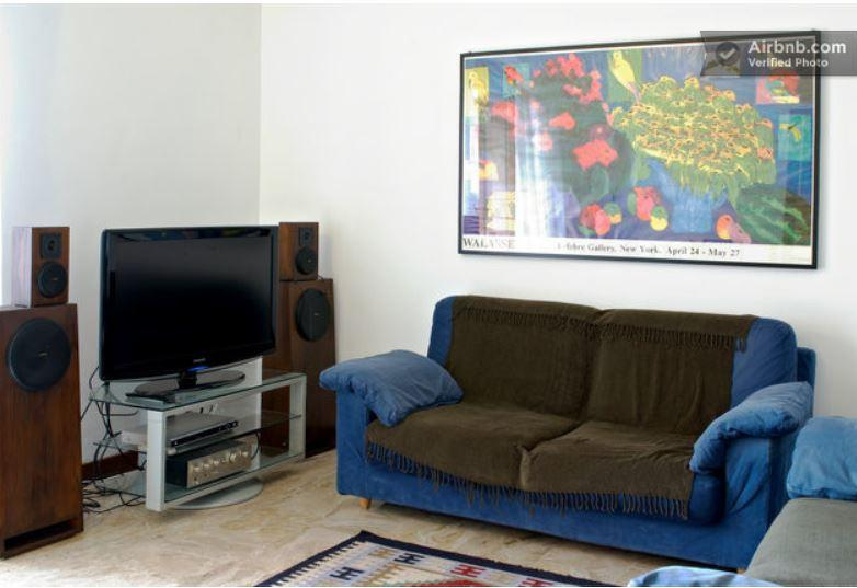 Living room with TV LCD