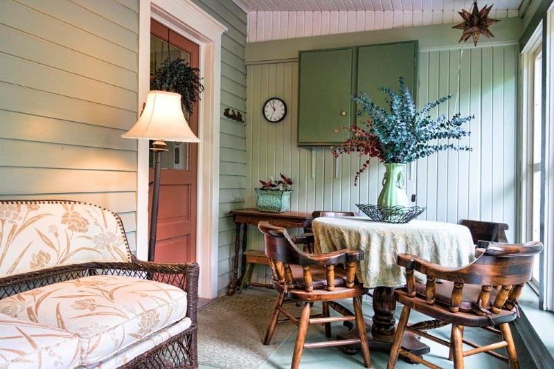 Breakfast porch and entrance to kitchen