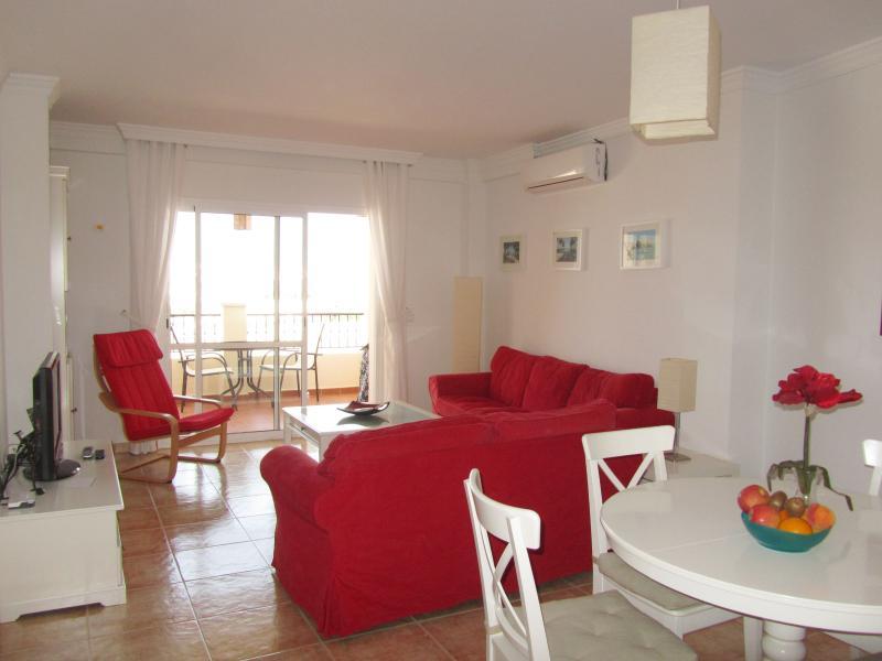Il soggiorno con lato terrazza privata