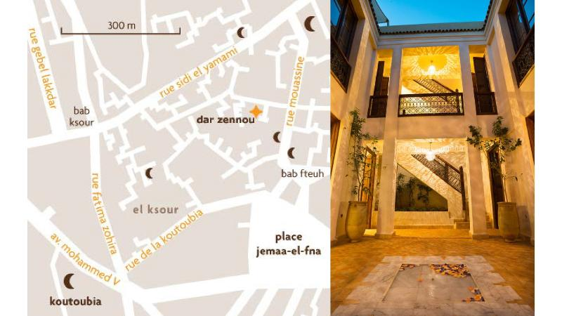 map & courtyard