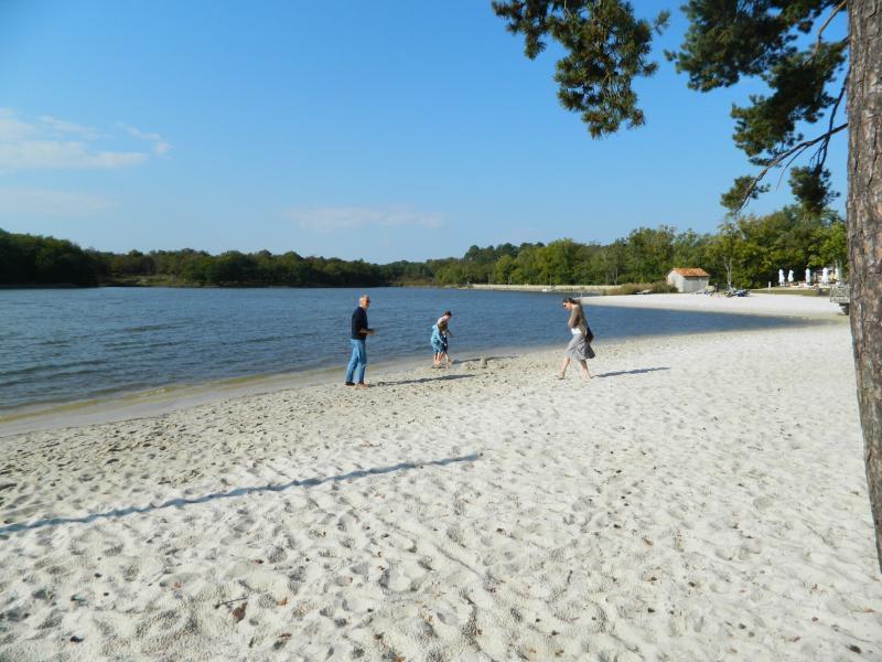 The swimming beach at Lake Jameye.