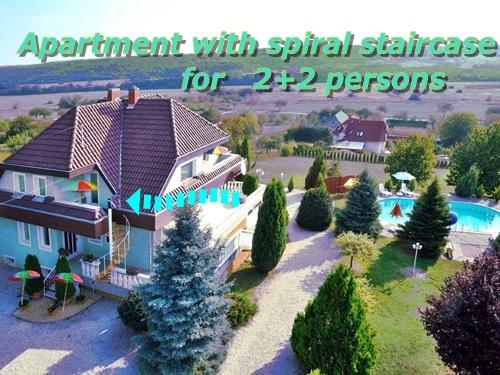 Apartment with spiral staircase 2+2 persons, vacation rental in Kehidakustany