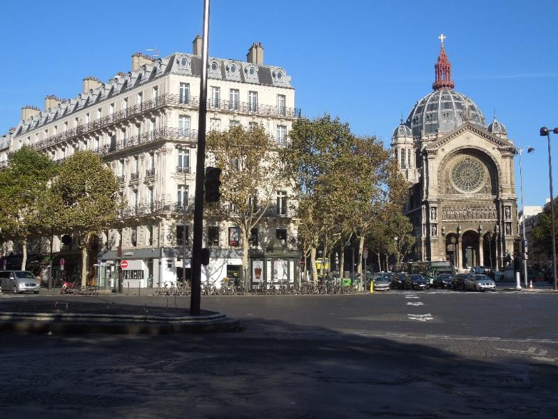 Haussmann Blvd & Saint Augustin church: you see the dome from both balconies.