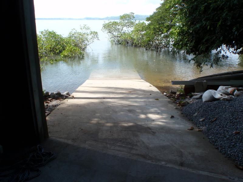 The ramp out of our boat house, we can unload bags right into out ATV.