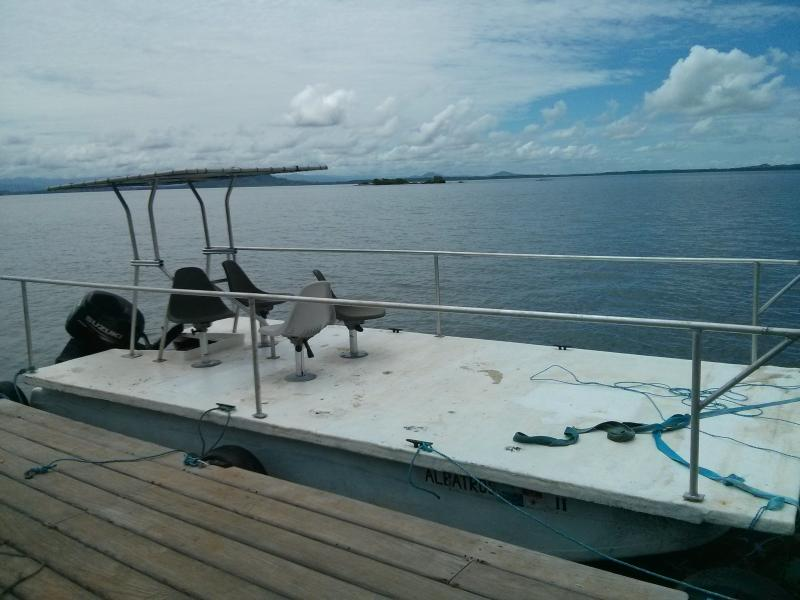 1 of our boats, Albatross is self bailing,.sheds water like a Kayak & unsinkable
