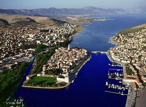 The city of Trogir - 3km away from the Villa Donadini