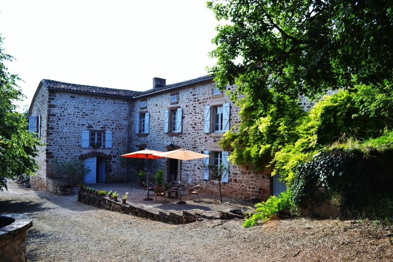quiet stone farm house, large pool 360 views, casa vacanza a Castelnau-de-Montmiral