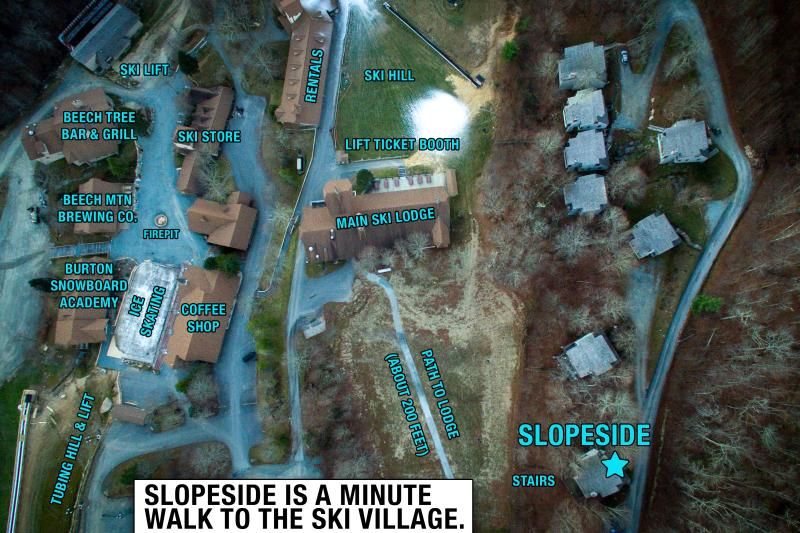 Slopeside is a just minute walk to the Ski Village.