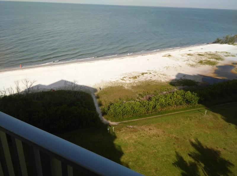 Beach directly in front of the condo