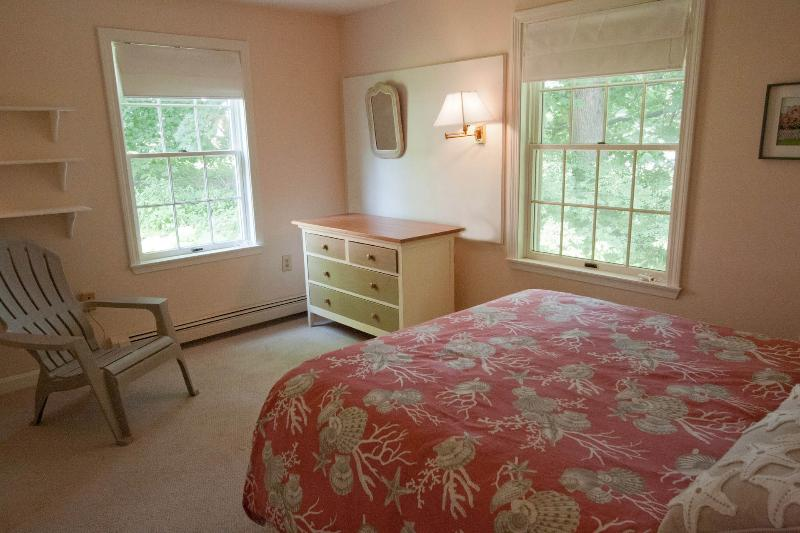 Main floor bedroom, with garden view and large closet.
