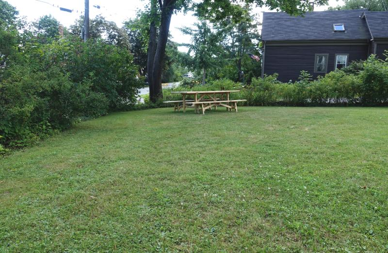 Huge, private, yard! No busy streets along property.