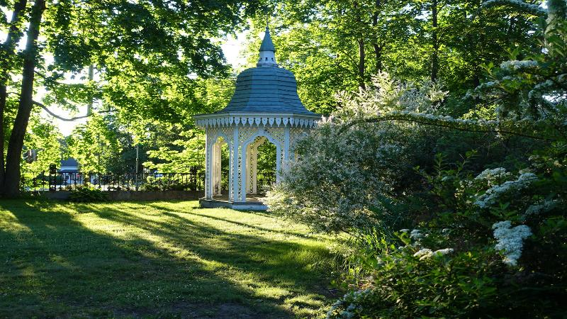 Walk the neighborhood and view the lovely architecture and beautiful gardens