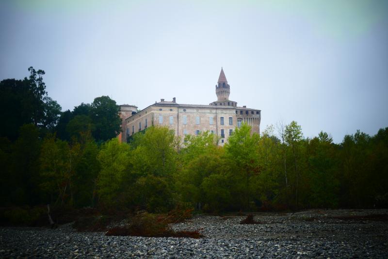 Rivalta Trebbia Río visto desde el castillo