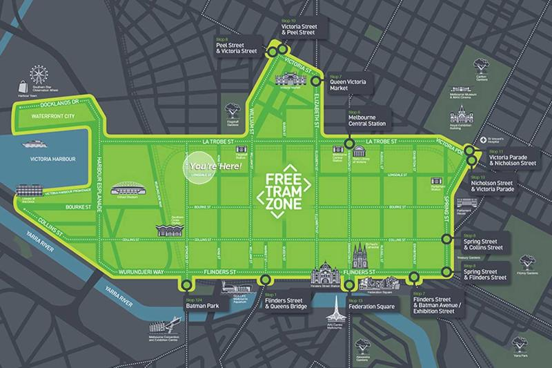 You're in the 'FREE TRAM' zone.