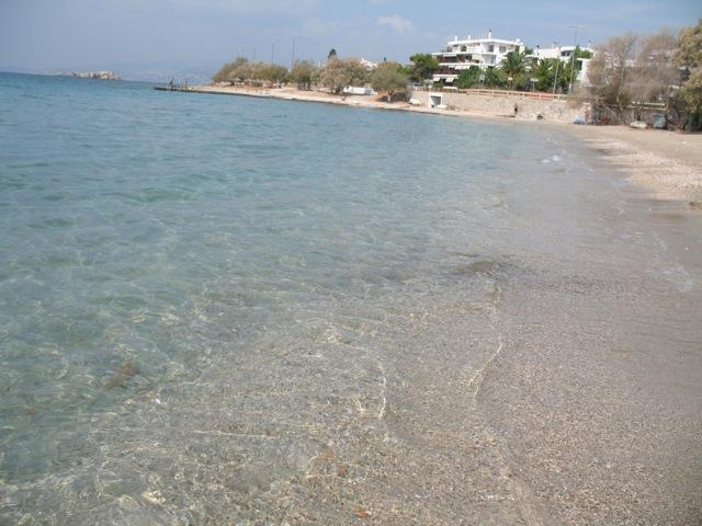 Saronida main sandy Beach suitable for kids and adults