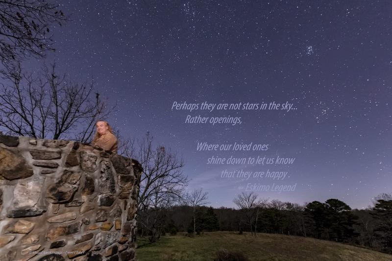 The castle builder and the night sky.