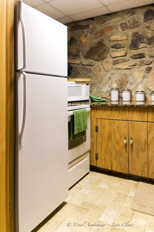 Refrigerator, stove microwave, coffee maker, it's all included.