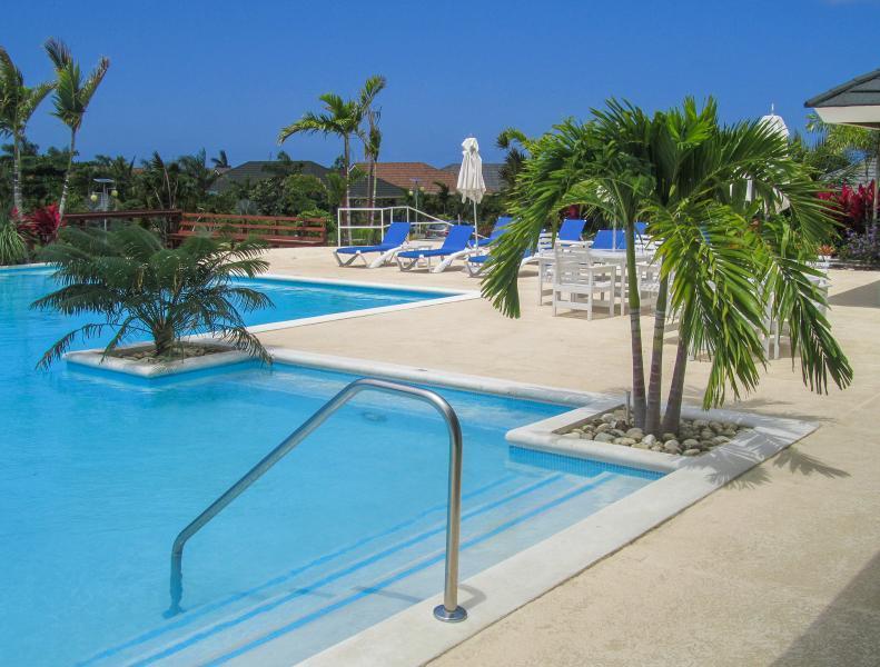 Comunità piscina in comune con i palmi