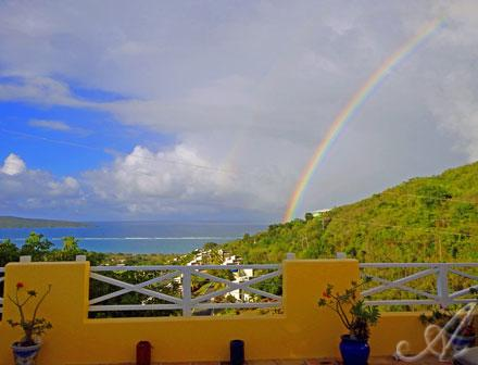 Capture the rainbow from the deck