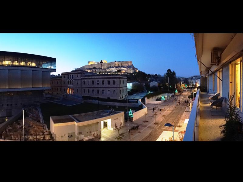 The view from the balcony! The Acropolis just in front of you!