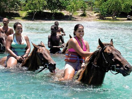 Horse Back riding at Chukka Cove  - 5 minutes' drive away