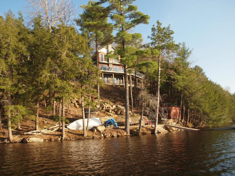 Spring photo of the shoreline (high water levels)
