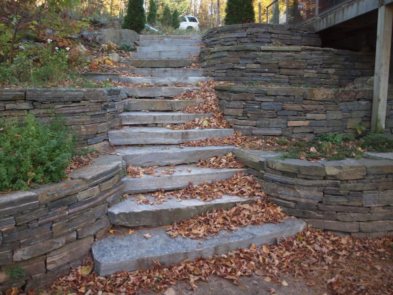 Autumn view of the steps.