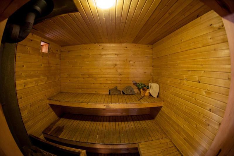 Woodstove sauna. Steam room.