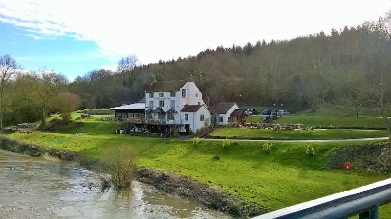 The Woodbridge Inn- great place for food and a drink after a walk along the river