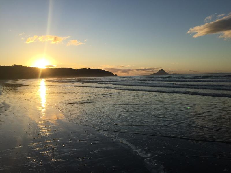 Sunset on Ohope Beach